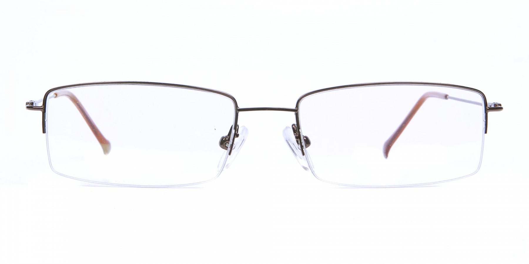 Smart Brown Rectangular Glasses-1