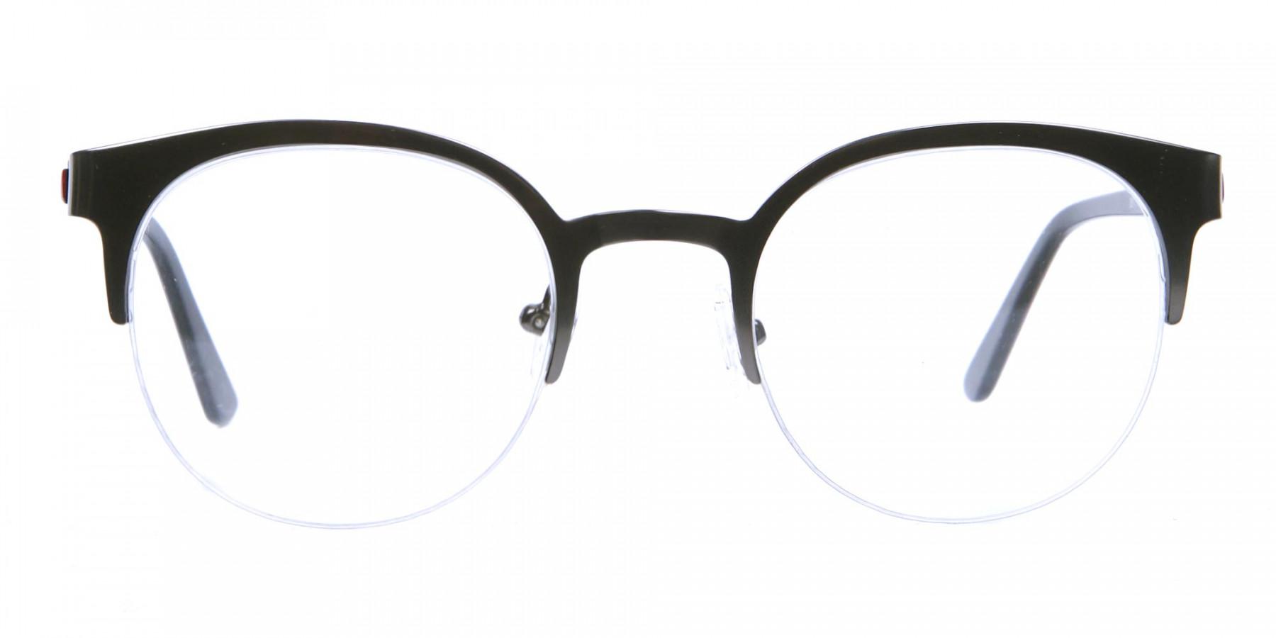 Browline Eyeglasses in Gunmetal, Eyeglasses - 1