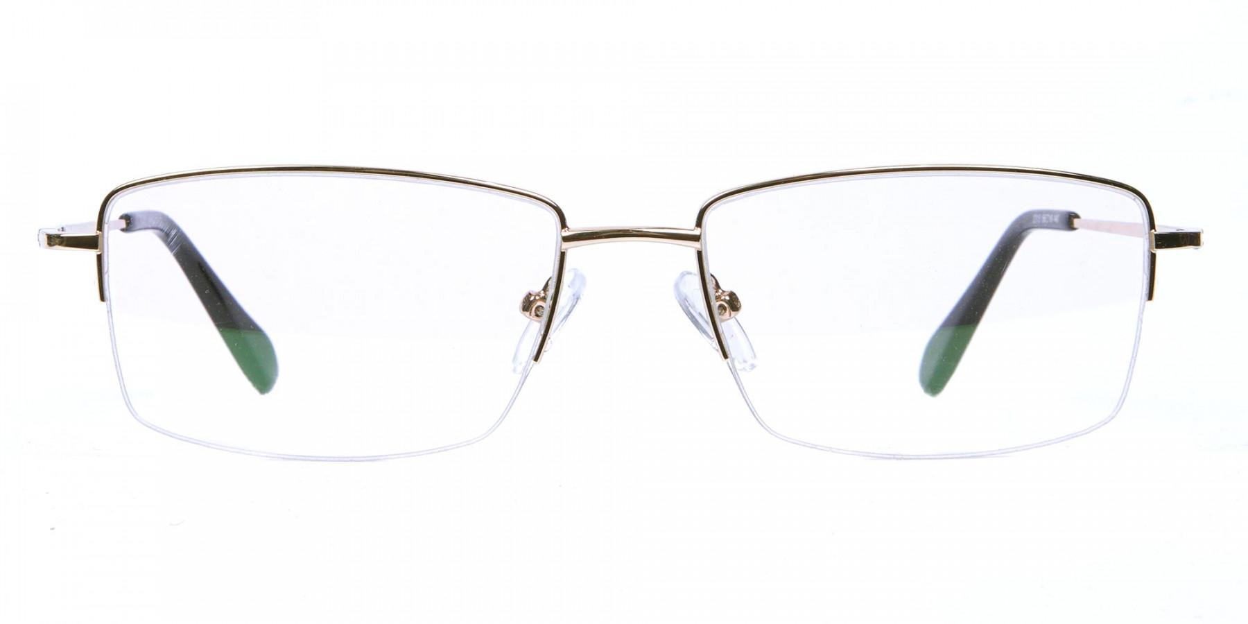 Gold Half-Rim Spiffy Frames -1