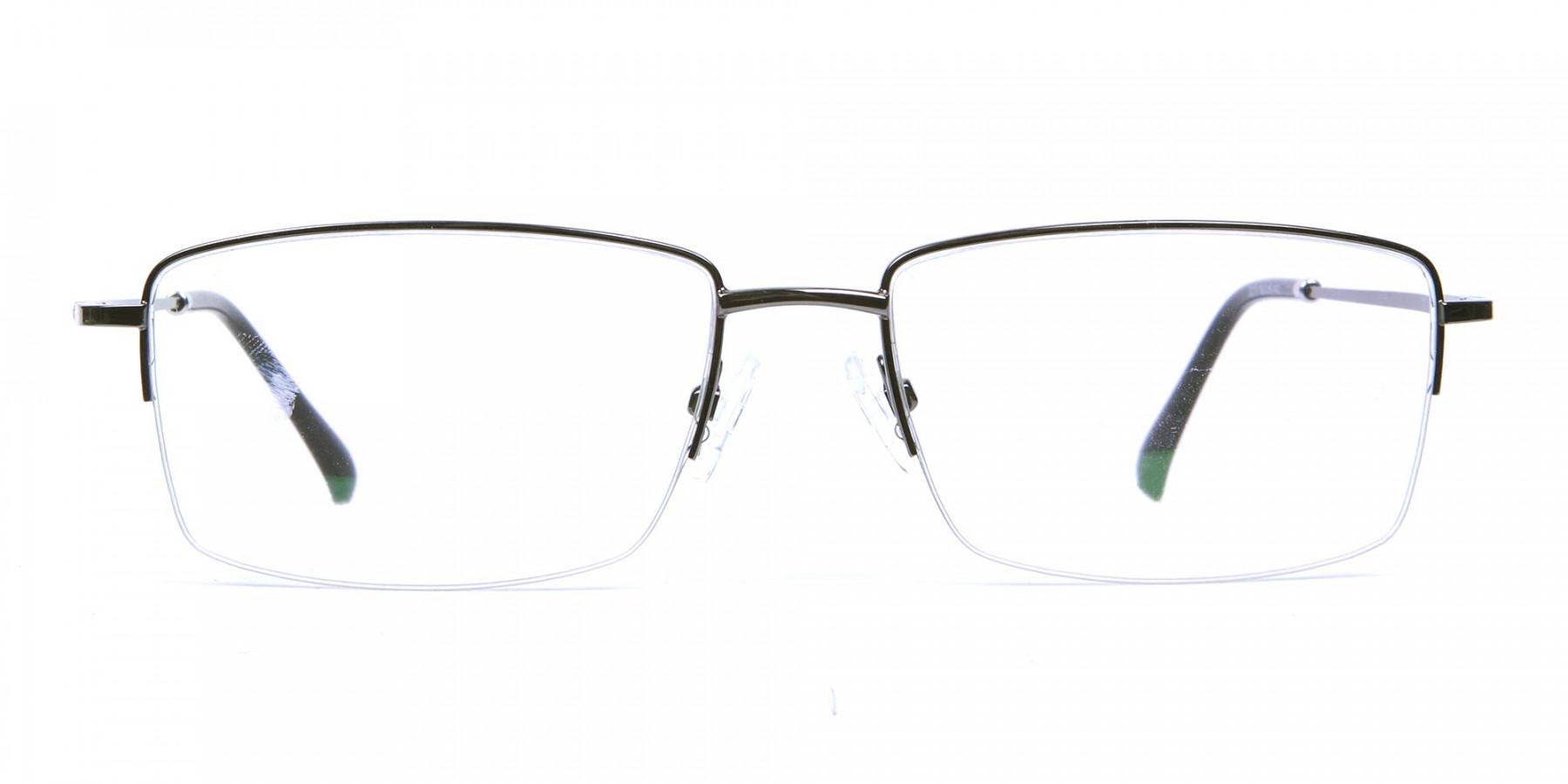 Gunmetal Half-Rim Frames - 1