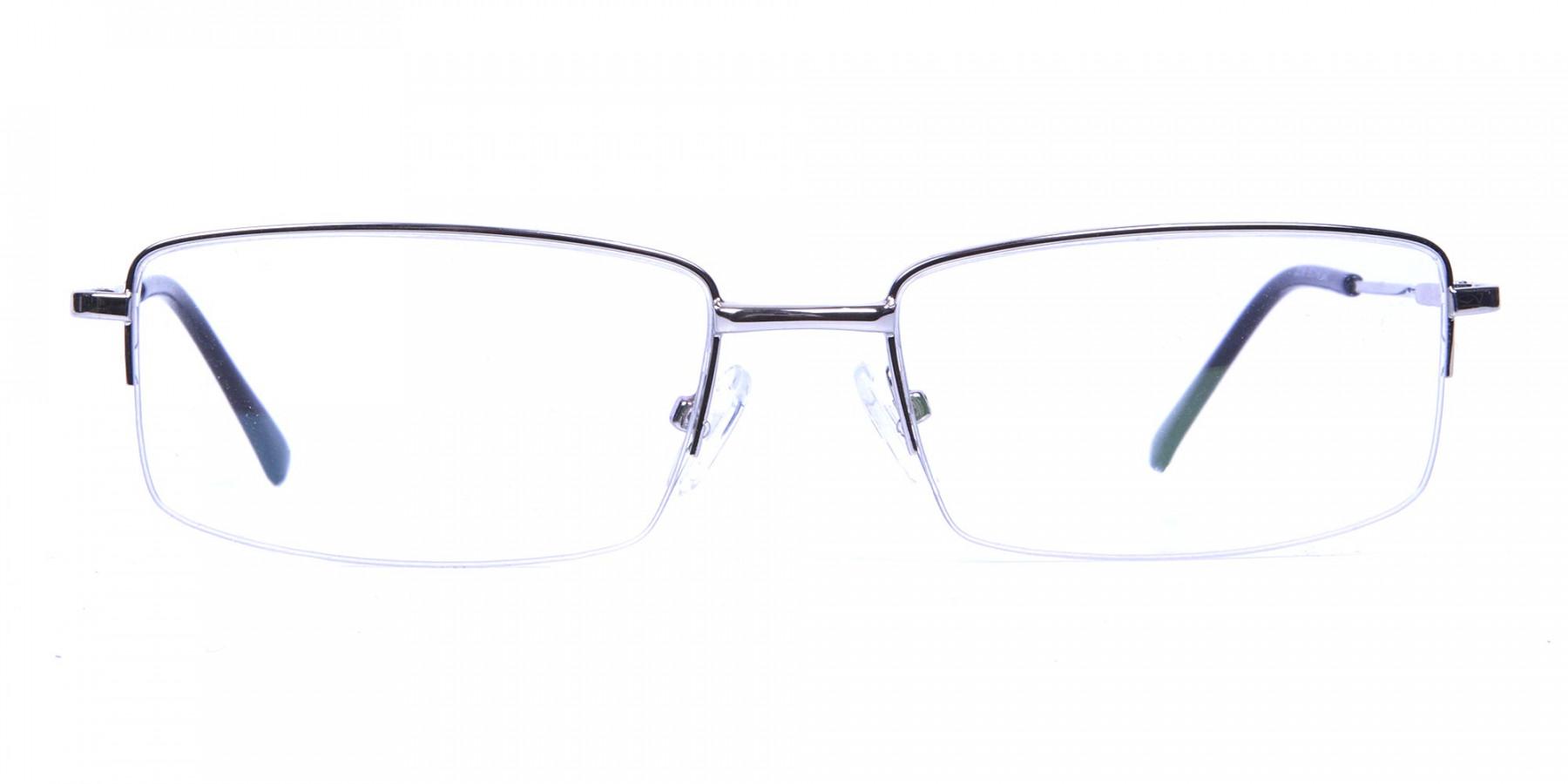 Rectangular glasses in Silver- 1