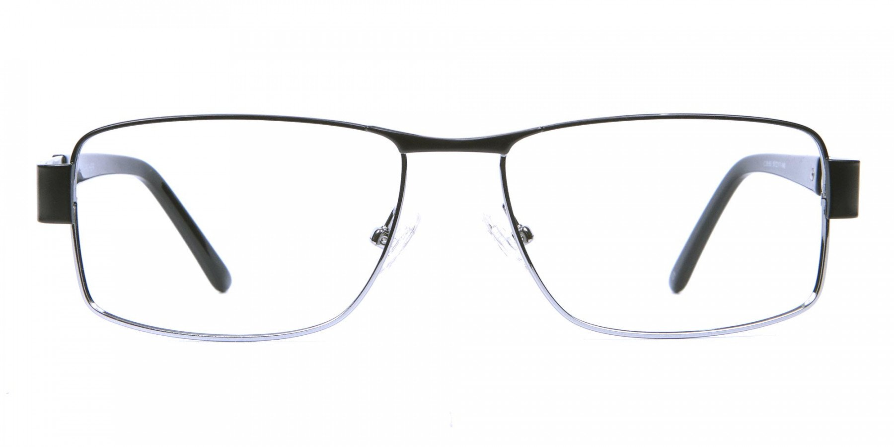 Rectangular Glasses in Black & Silver -1