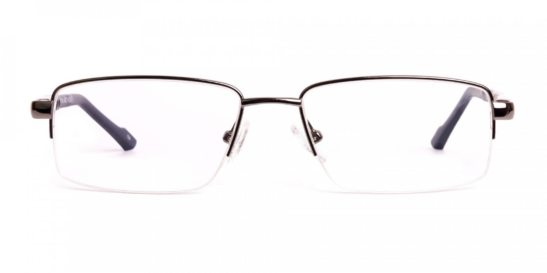 gunmetal-and-black-half-rim-rectangular-glasses-frames -1