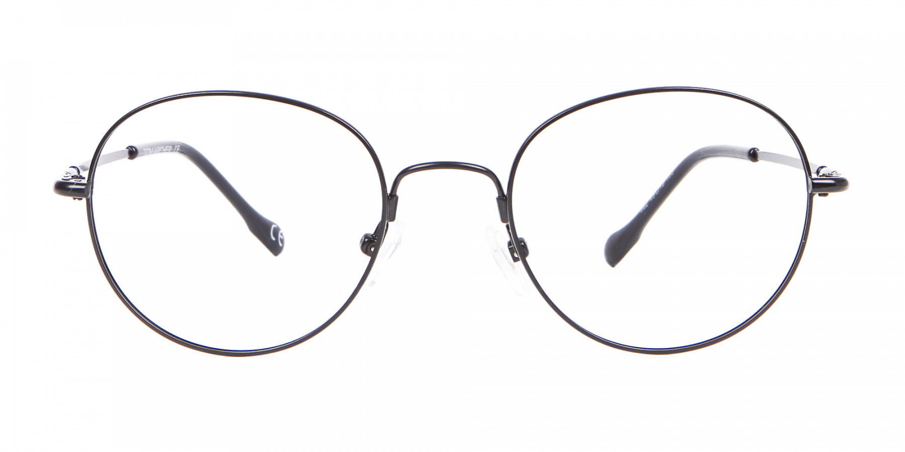 Black Round Titanium Round Vintage Frame-1