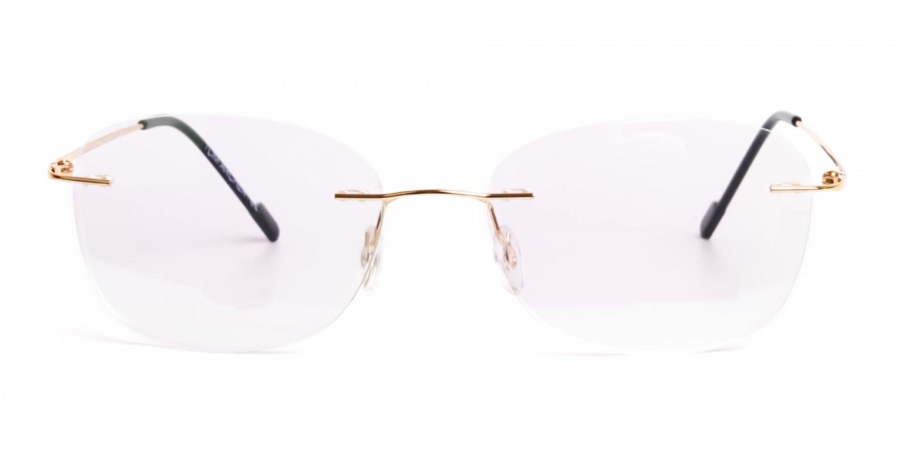 gold-rimless-titanium-glasses-frames-1