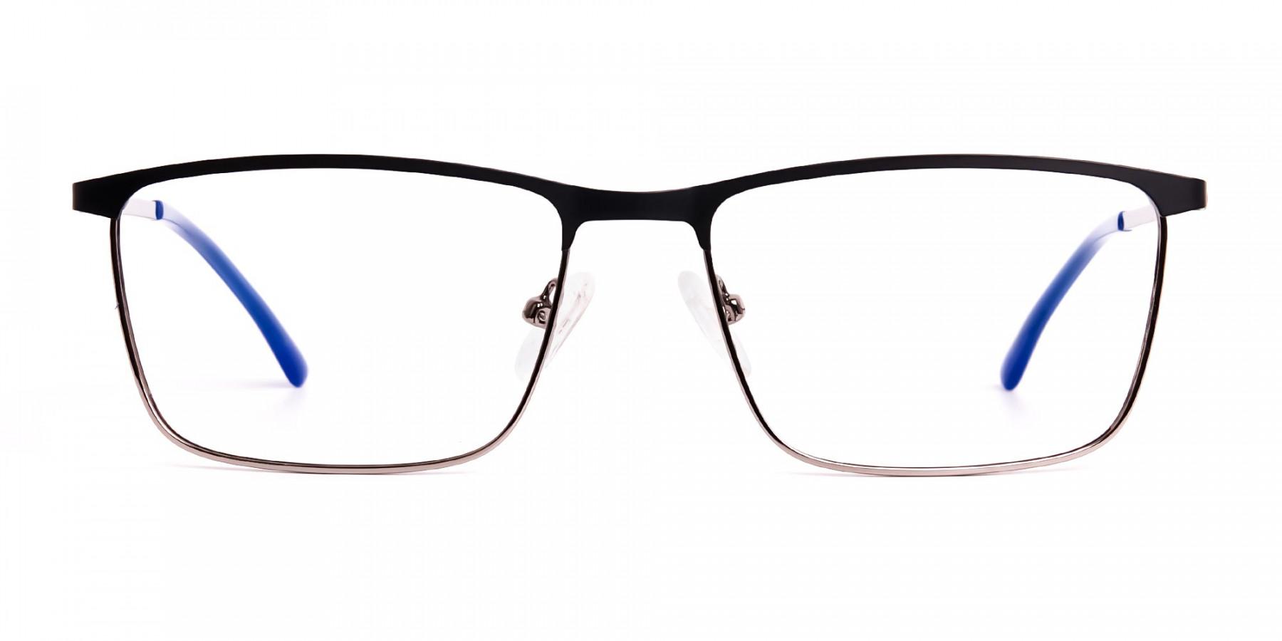 black-and-blue-gunmetal-rectangular-full-rim-glasses-frames-1