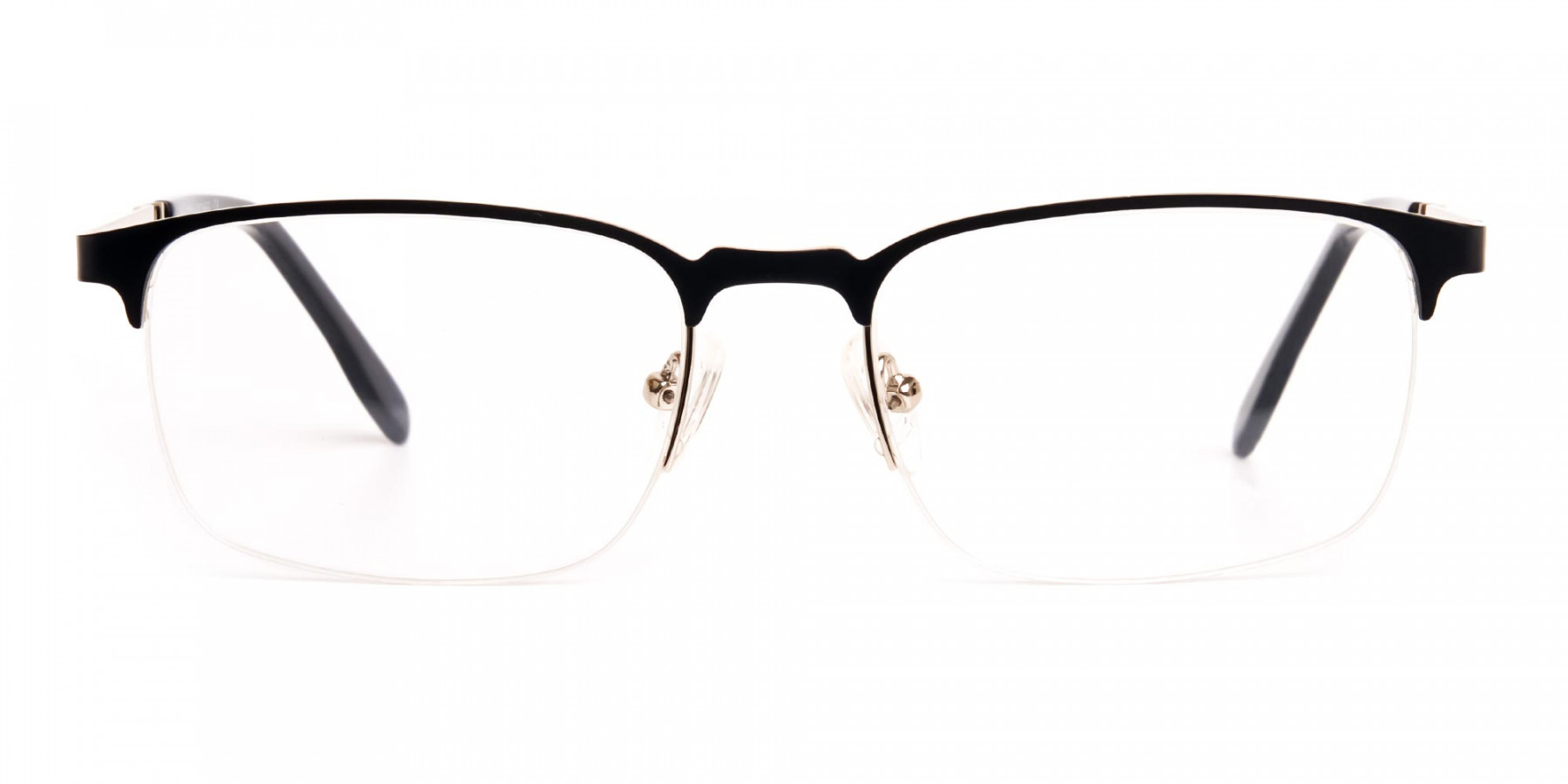 black-and-silver-rectangular-half-rim-glasses-frames-1