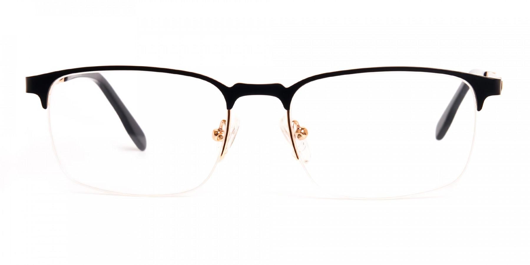 black-and-gold-rectangular-half-rim-glasses-frames-1