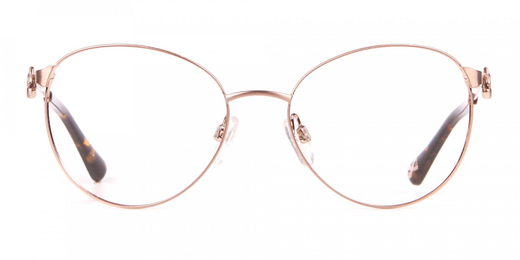 Ted Baker TB2243 Elvie Gold Round Metal Glasses Women-1