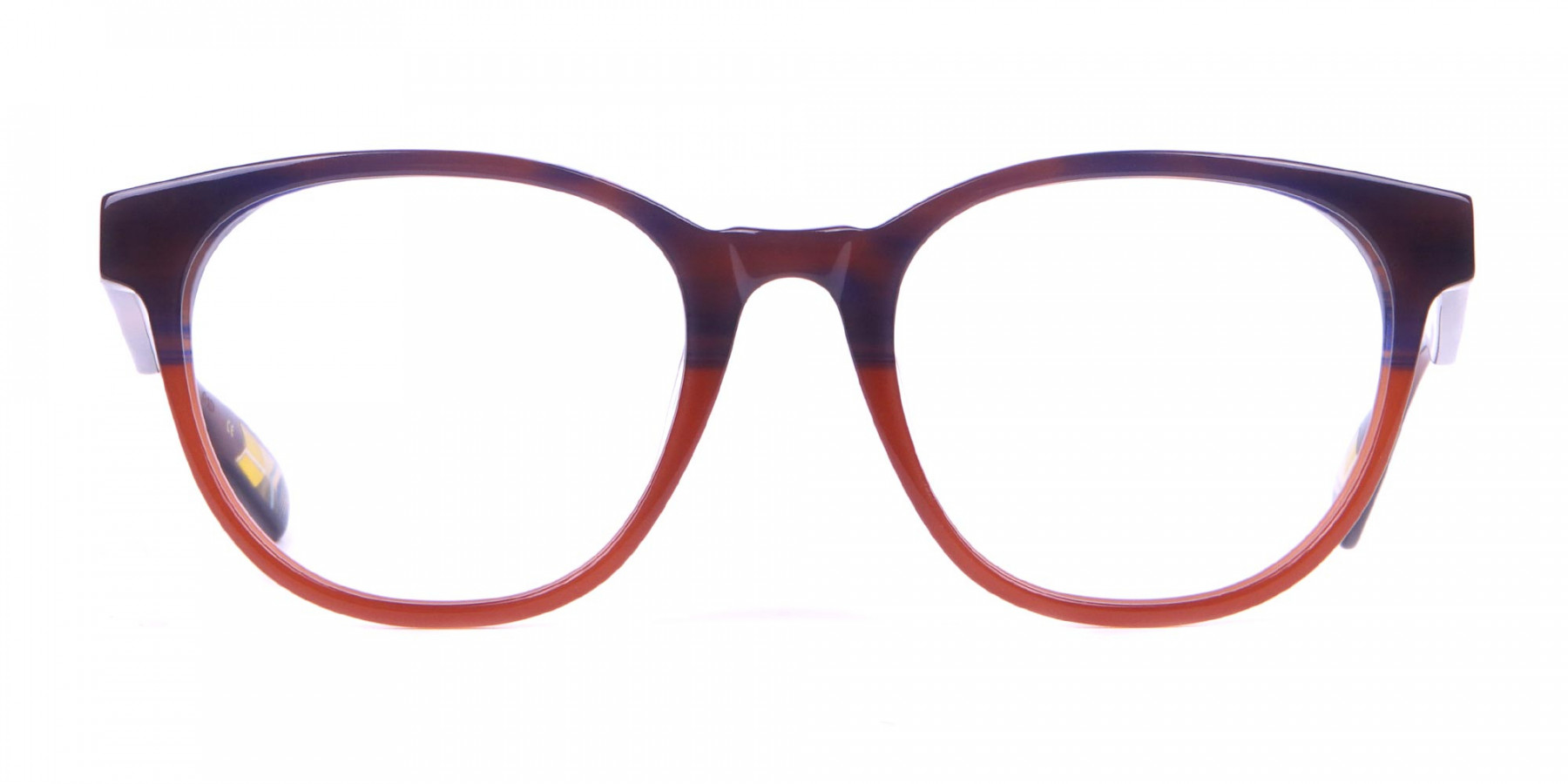 TED BAKER TB8197 Cade Glasses Classic Round Blue Brown-1