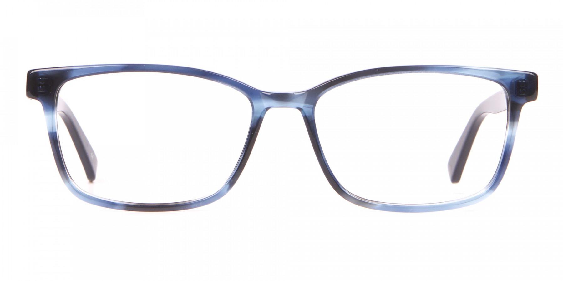 TED BAKER TB2810 FULLER Rectangular Blue Tortoiseshell -1