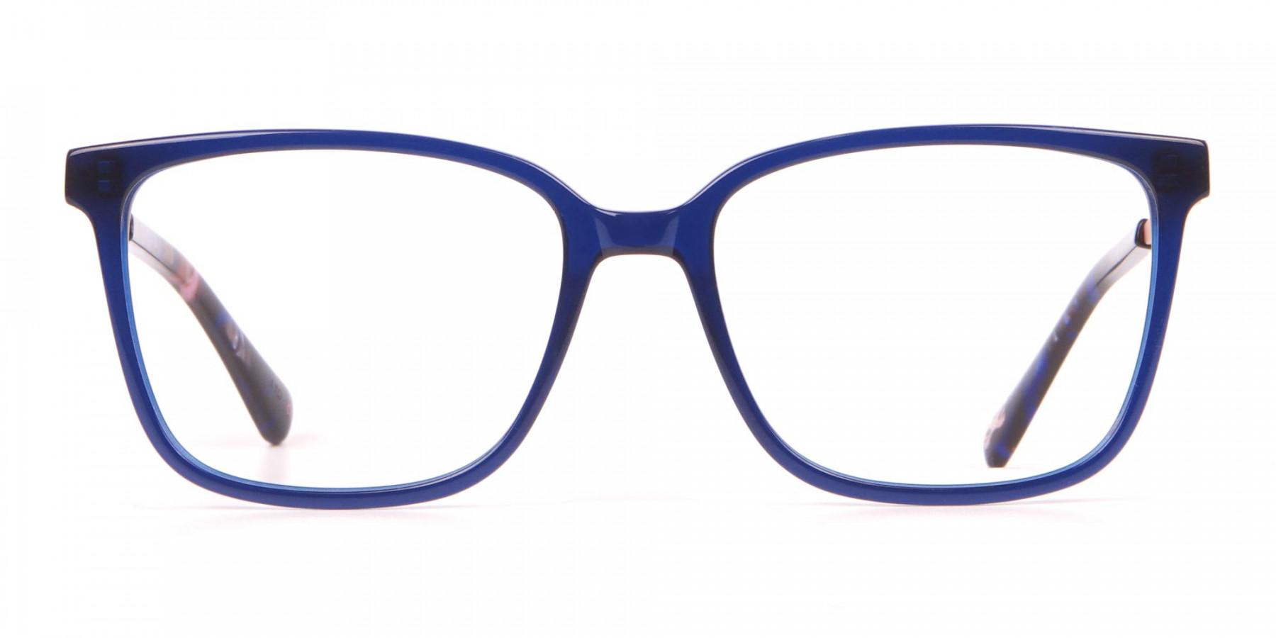 Tad Baker TB9179 Women Blue Full Rim Wayfarer Glasses-1