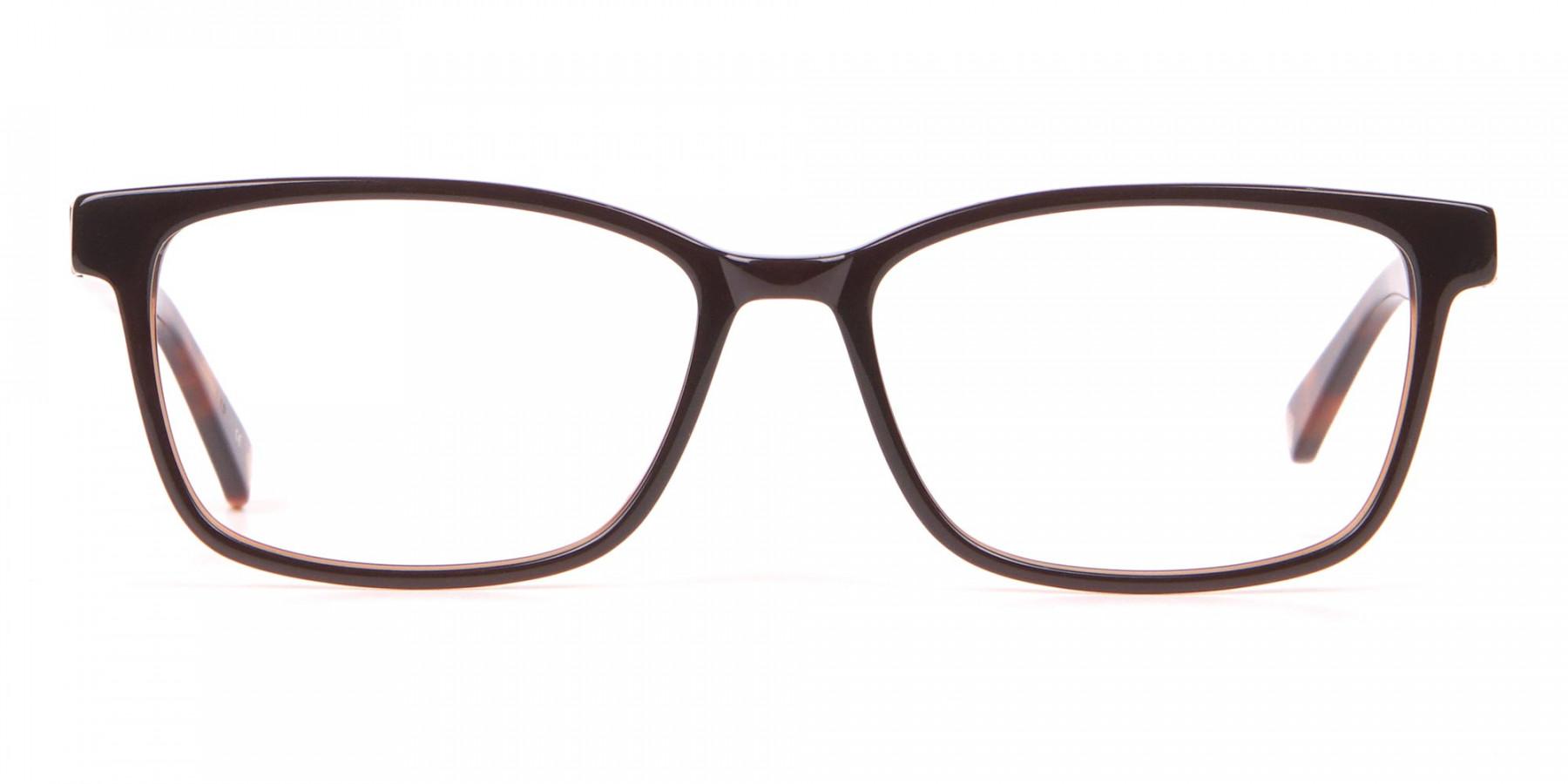 TED BAKER TB2810 FULLER Rectangular Glasses Black & Horn-1