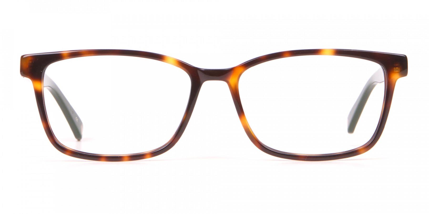TED BAKER TB2810 FULLER Rectangle Glasses Green & Tortoise-1