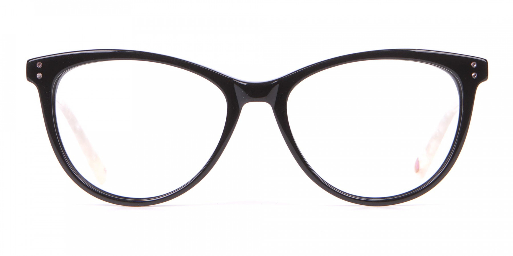 TED BAKER TB9146 Gigi Cat-Eye Glass Black & White Marble-1