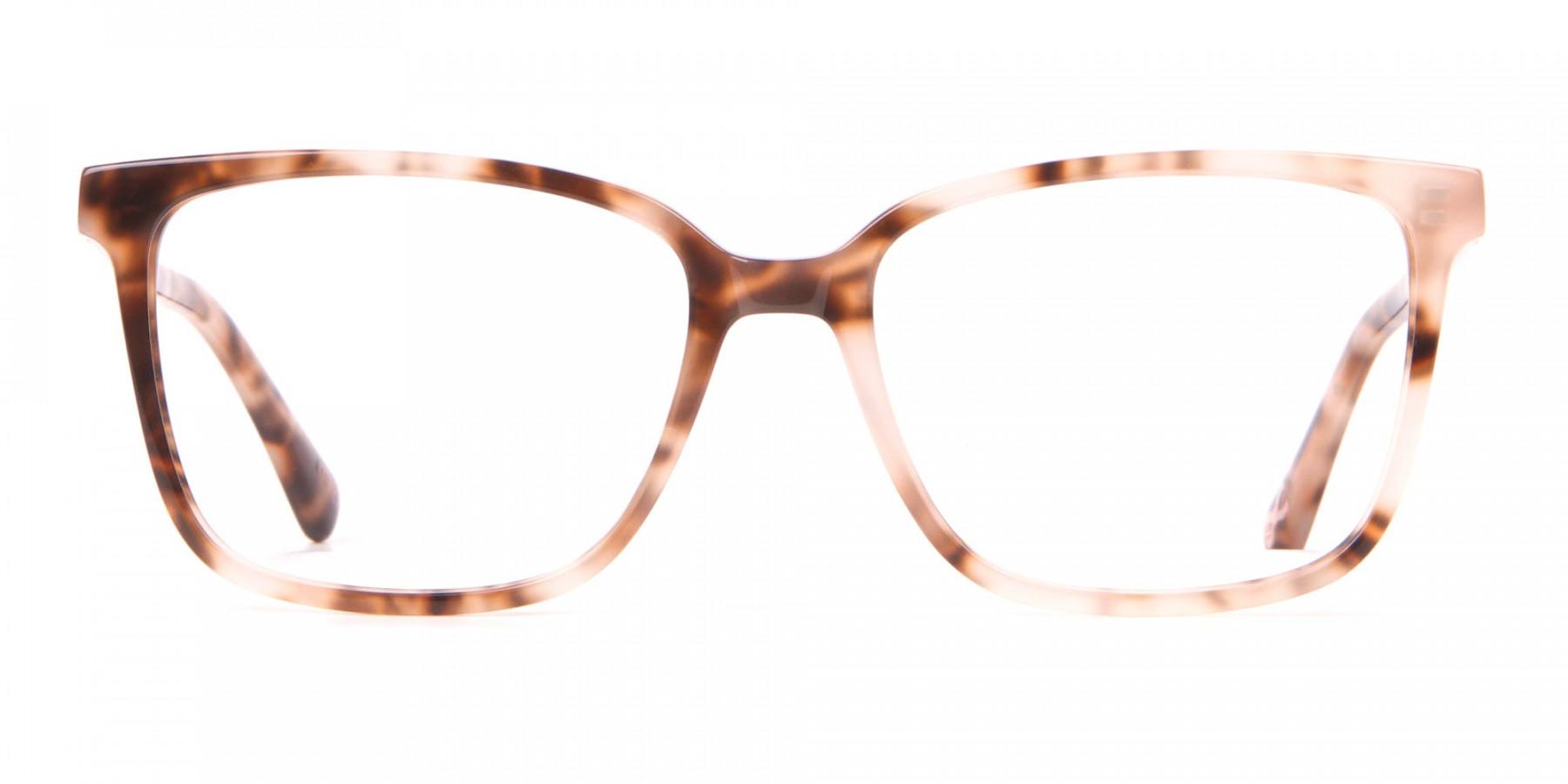 Tad Baker TB9179 Women Light Tortoise Square Glasses-1