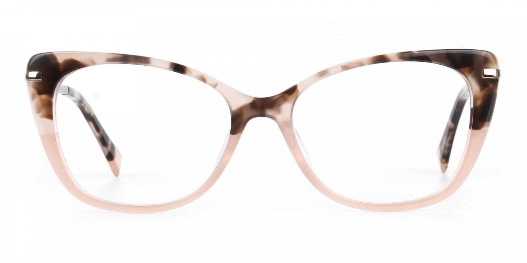 Brown Tortoise Eyeglasses Wayfarer & Cat-eye-1