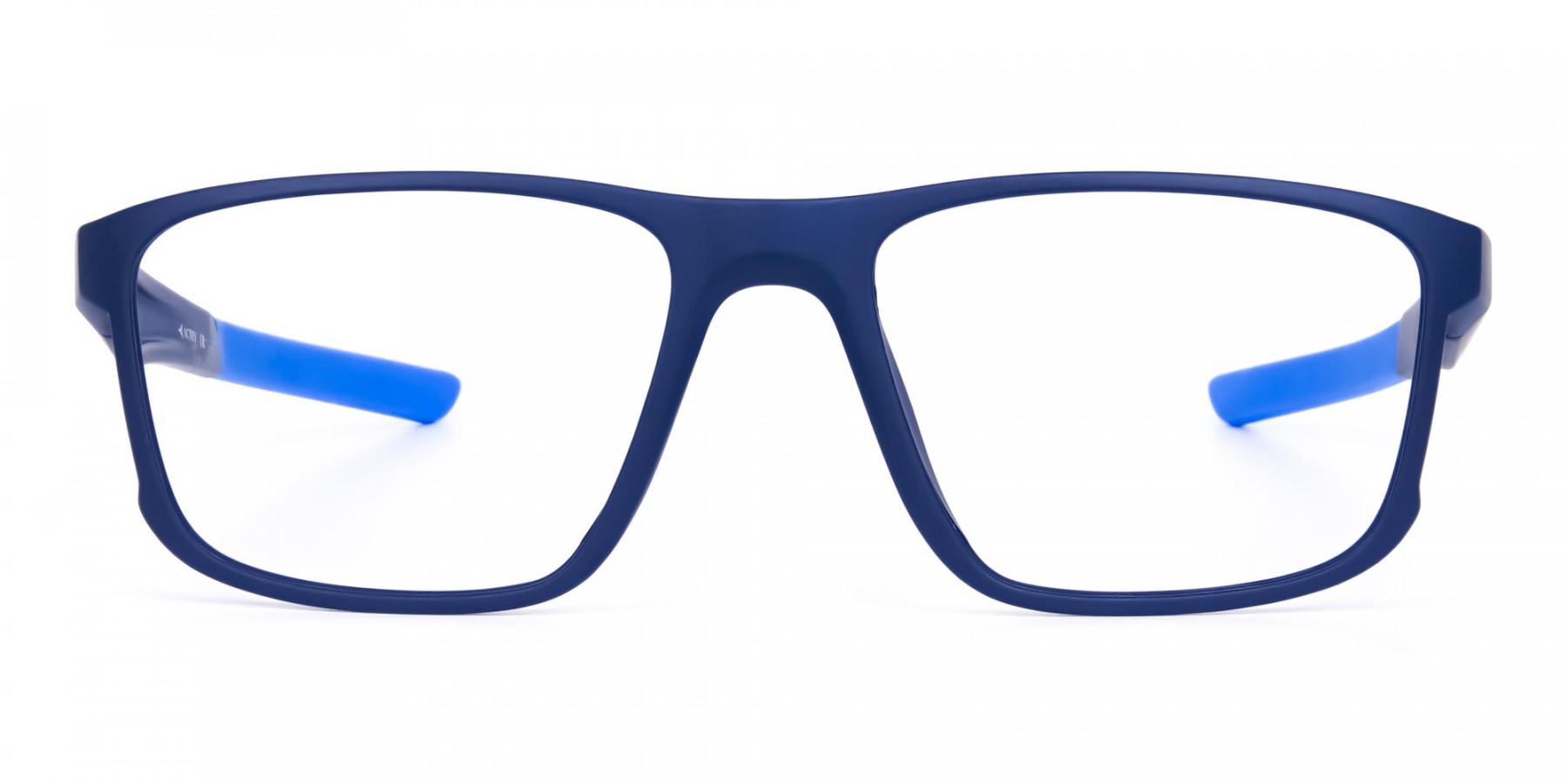 Navy Blue Rectangular polarized fishing glasses-1
