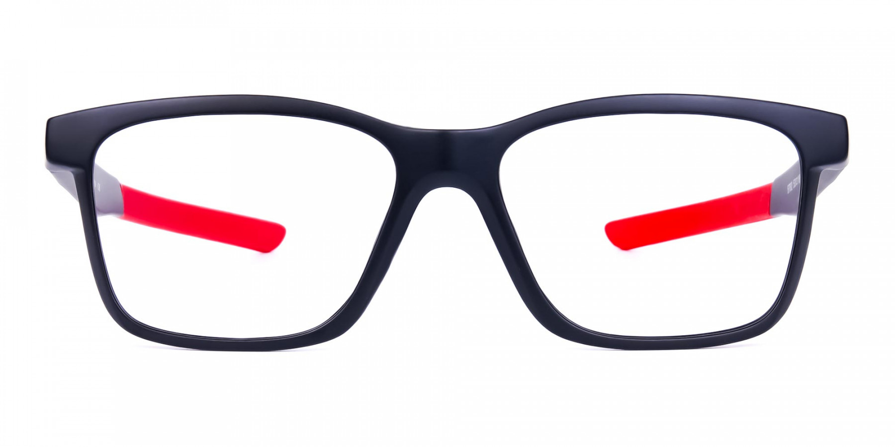 Red & Black Rectangular Rim Goggles For Biking-1