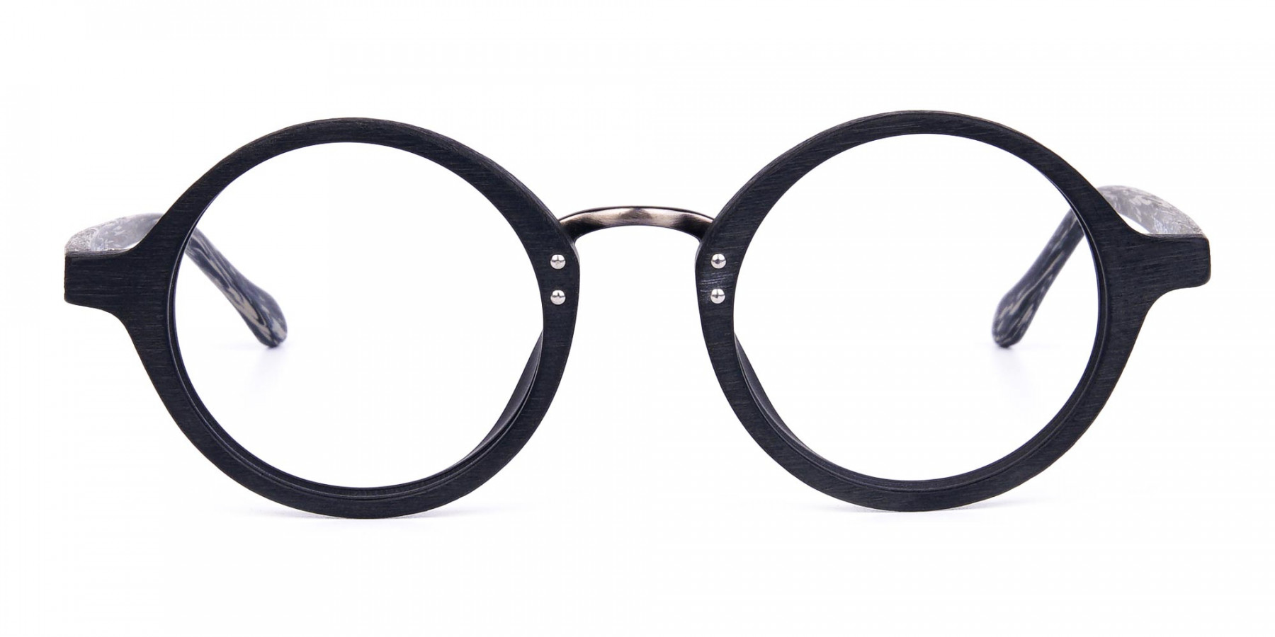 Black-Round-Full-Rim-Wooden-Glasses-1