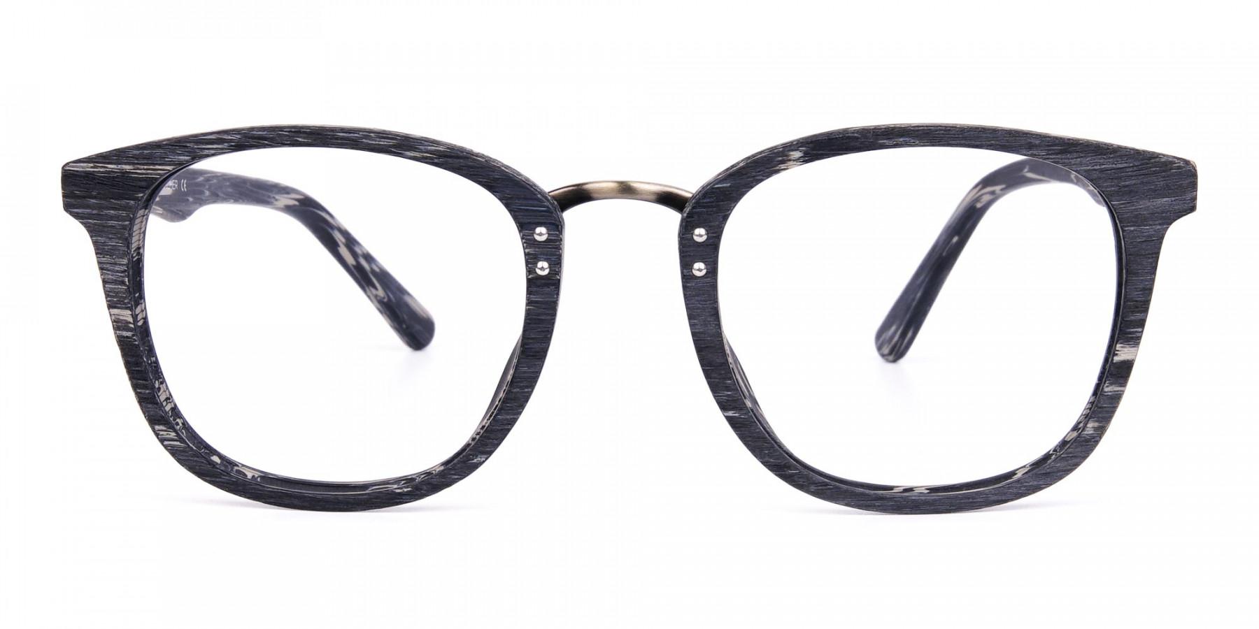 Wooden-Texture-Stripe-Grey-Rim-Glasses-1