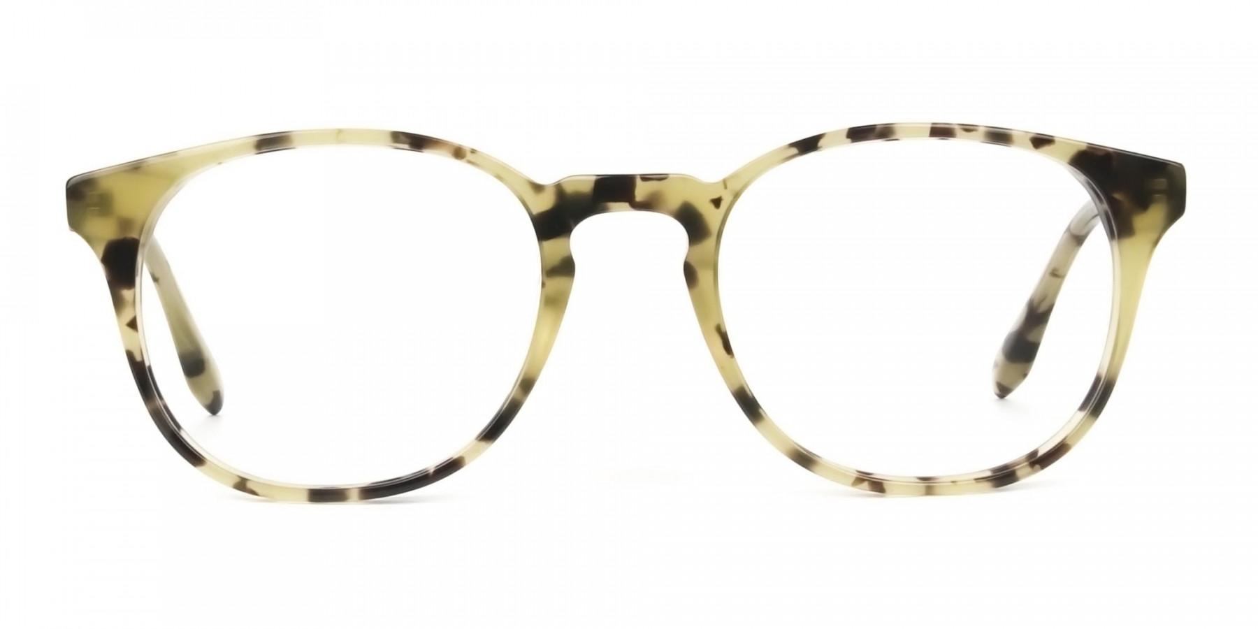 Keyhole Marzipan Tortoise Eyeglasses in Wayfarer - 1