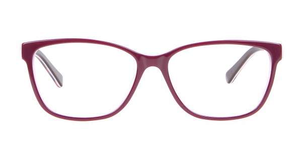 Rectangle Frame with Patterns Burgundy & Pink