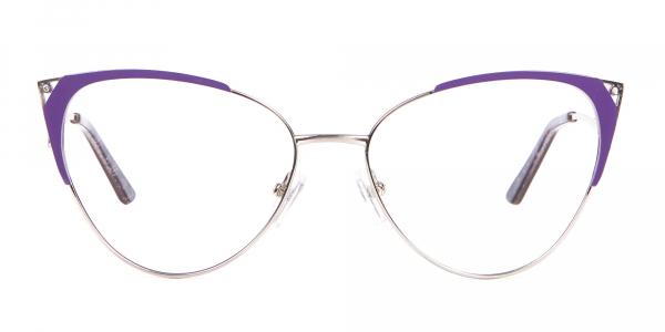 Purple Vintage Inspired Frame, Designer Glasses