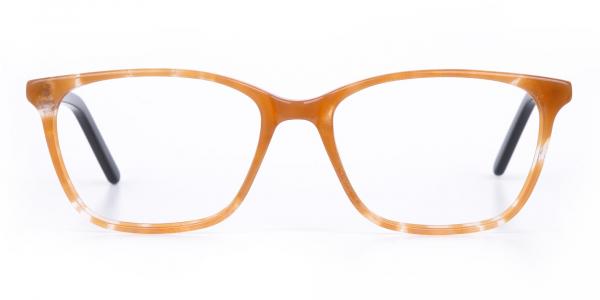 Brown Sparkle Apricot Nude Black Eyeglasses-1