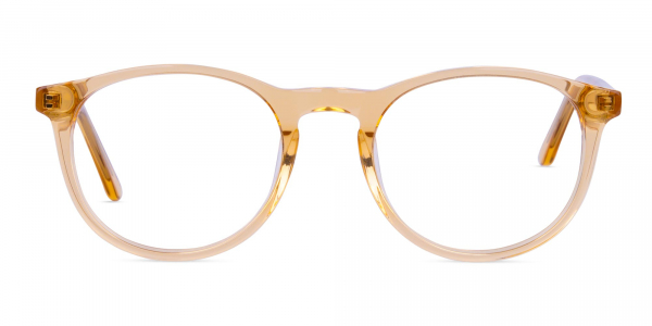 Crystal and Brown Round Glasses