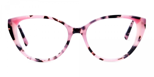 Nude Pink and Tortoise Cat Eye Glasses