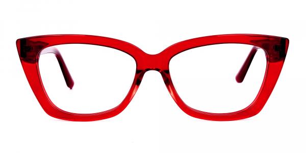 Cherry Red Cat Eye Glasses Frame