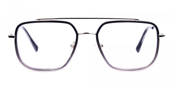 Black and Grey Aviator Glasses