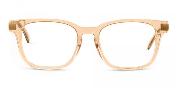 Crystal Nude Wayfarer Glasses