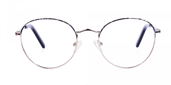 Silver and Marble Tortoise Shell Round Glasses
