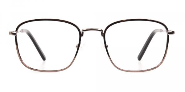 Full Rim Gunmetal Wayfarer Glasses Frame Unisex