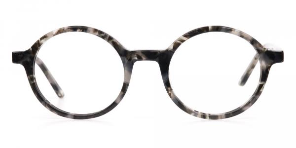Marble Grey Acetate Round Eyeglasses Unisex