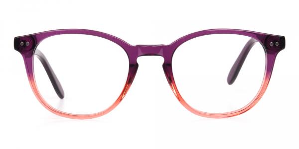 Purple & Tangerine Orange Two Tone Glasses