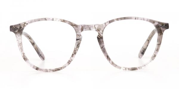 Silver Grey Marble Acetate Wayfarer Glasses