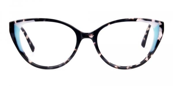Marble and Tortoise Cat Eye Glasses