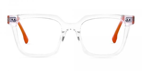 Crystal Clear Wayfarer Glasses Frame