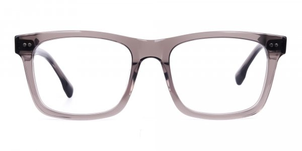Crystal and Grey Square Glasses