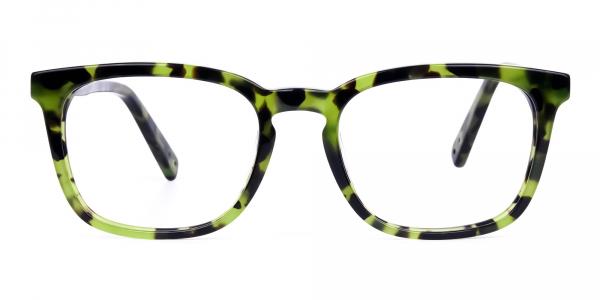Green Tortoise Wayfarer Glasses Frame