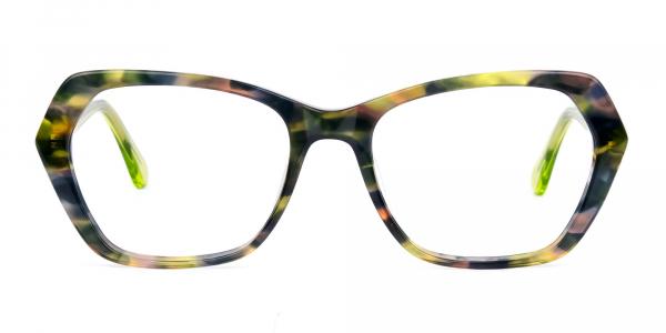 Green Tortoise Shell Cat Eye Glasses
