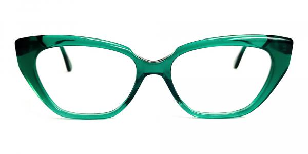 Crystal Green Cat Eye Glasses