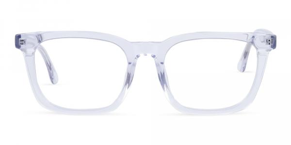 Crystal Clear Wayfarer Glasses