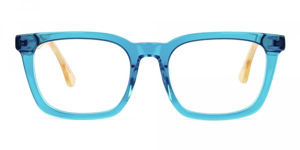 Crystal Sky Blue Wayfarer Glasses
