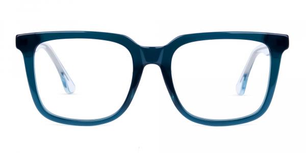 Dark Peacock Green Wayfarer Glasses