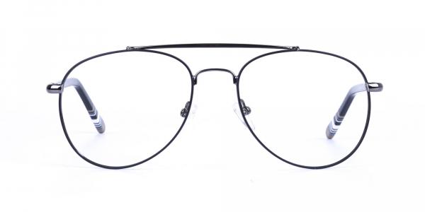 Aviator Gunmetal Black Fine Metal Glasses