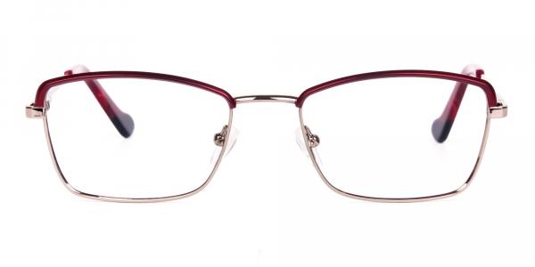 blue light glasses metal frame